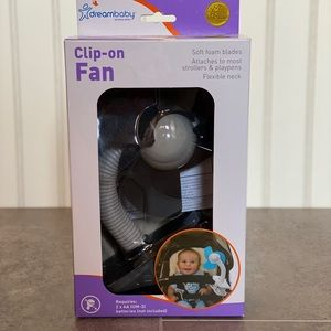 Clip on, battery operated, foam fan